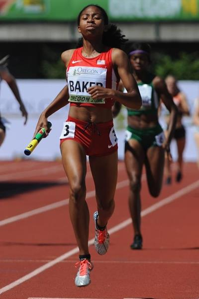 Olivia Baker at the IAAF World Junior Championships, Oregon 2014  (Getty Images)