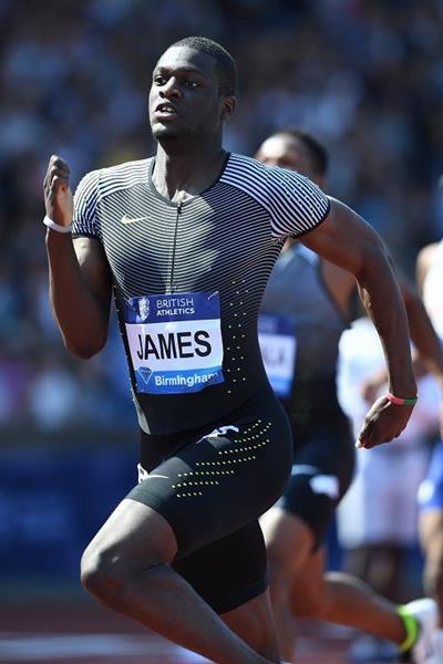 Kirani James wins the 400m at the IAAF Diamond League meeting in Birmingham (Jean-Pierre Durand)