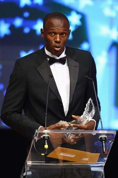 Usain Bolt - 2008 World Athlete of the Year - World Athletics Gala, 23 November (Getty Images)