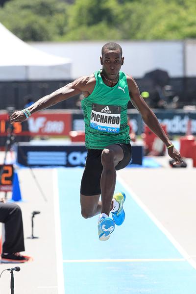 Pedro Pablo Pichardo, winner of the triple jump at the IAAF Diamond League meeting in New York (Victah Sailer)