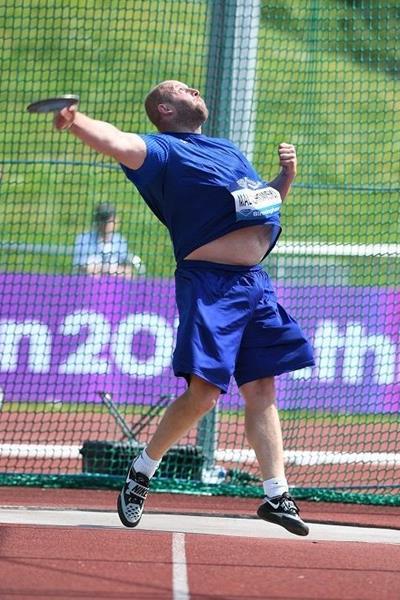 Piotr Malachowski at the 2016 IAAF Diamond League meeting in Birmingham (Jean-Pierre Durand)
