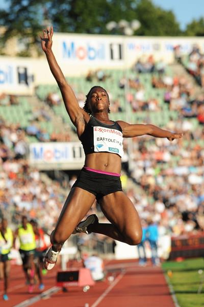 Tianna Bartoletta at the 2014 IAAF Diamond League in Oslo (Mark Shearman)
