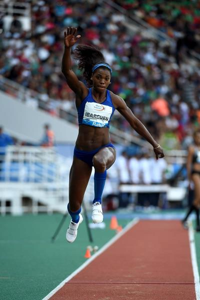 Caterine Ibarguen keeps on winning, this time at the IAAF Diamond League meeting in Rabat (Kirby Lee)