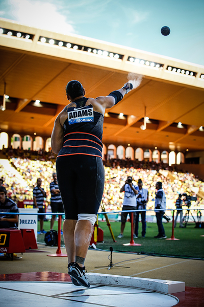 Valerie Adams, winner of the shot put at the IAAF Diamond League meeting in Monaco (Philippe Fitte)