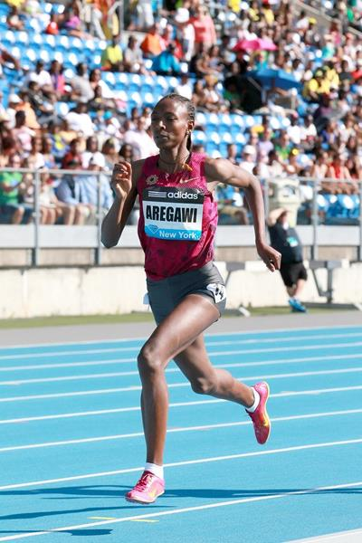 Abeba Aregawi at the 2014 IAAF Diamond League meeting in New York (Victah Sailer)