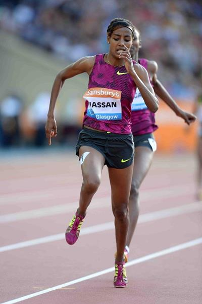 Sifan Hassan winning the 1500m at the IAAF Diamond League meeting in Glasgow (Jiro Mochizuki)