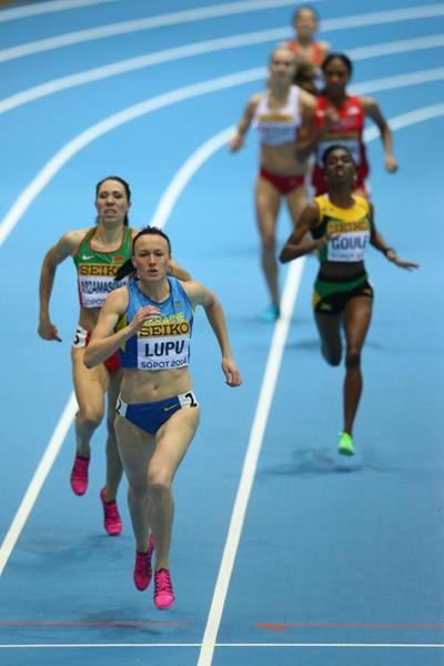 Nataliia Lupu in the women's 800m heats at the 2014 IAAF World Indoor Championships in Sopot (Getty Images)