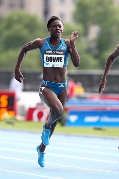 Tori Bowie at the 2014 IAAF Diamond League meeting in New York (Victah Sailer)