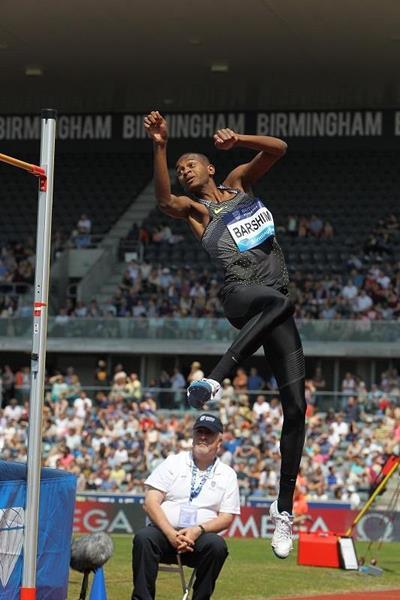 Mutaz Essa Barshim at the 2016 IAAF Diamond League meeting in Birmingham (Jean-Pierre Durand)