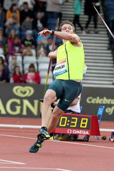 Thomas Rohler at the 2014 IAAF Diamond League in Glasgow (Victah Sailer)