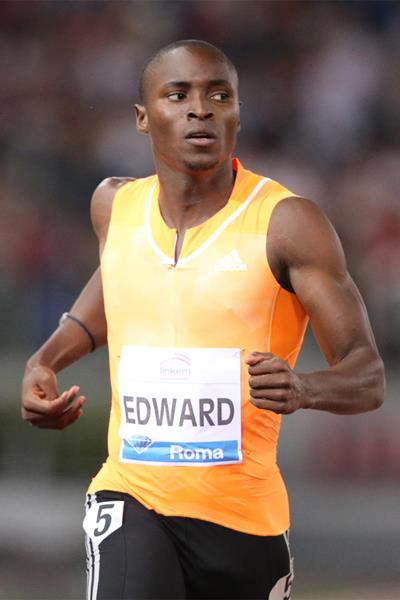 Alonso Edward wins the 200m at the IAAF Diamond League meeting in Rome (Gladys Chai von der Laage)