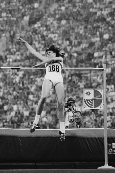 Ulrike Meyfarth during the 1972 Olympics ()
