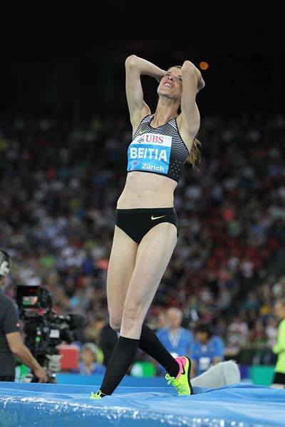 Ruth Beitia, winner of the high jump at the IAAF Diamond League meeting in Zurich (Jean-Pierre Durand)