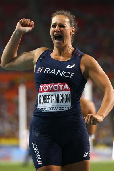 Melina Robert Michon in the womens Discus Throw at the IAAF World Athletics Championships Moscow 2013 (Getty Images)
