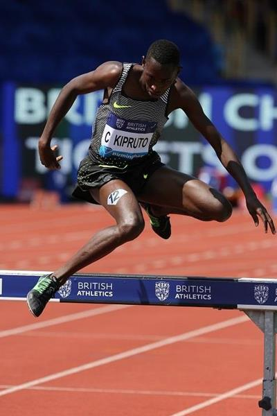 Conseslus Kipruto at the 2016 IAAF Diamond League meeting in Birmingham (Jean-Pierre Durand)