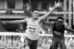 Devon Allen wins the 110m hurdles at the 2016 US Trials (Getty Images)