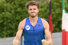 Rico Freimuth in the decathlon pole vault at the Stadtwerke Ratingen Mehrkampf Meeting (Gladys Chai von der Laage)
