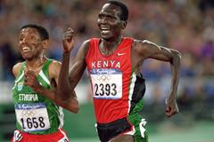 Paul Tergat and Haile Gebrselassie in the 10,000m at the 2000 Olympic Games in Sydney (Getty Images)