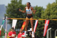 Nafi Thiam after topping 2.01m in Gotzis (Jean Pierre Durand)