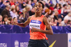 Sifan Hassan wins the 1500m at the Glasgow Indoor Grand Prix (Getty Images )