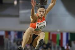 Ivana Spanovic at the 2016 Dusseldorf indoor meeting (Jean-Pierre Durnad)