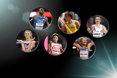 Finalists for the 2017 IAAF Rising Star Award (Getty Images)