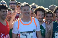 IAAF President Sebastian Coe on the start line in Seville (Fundacion ANOC)