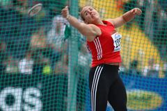 Anita Marton in the discus at the 2008 IAAF World Junior Championships in Bydgoszcz (Getty Images)