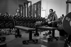 Majd Eddin Ghazal during some weights training (Michelle Sammet)