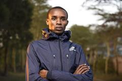 George Manangoi in training (Lennx Mpokeh)
