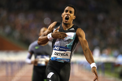 Orlando Ortega wins the 110m hurdles at the IAAF Diamond League final in Brussels (Giancarlo Colombo)