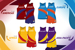 Team vests for the IAAF Continental Cup Ostrava 2018 (IAAF)