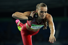 Laura Ikauniece-Admidina competes in Rio 2016 (Getty Images)