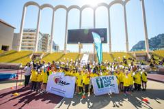 IAAF and Peace and Sport support Kids' Athletics event in Monaco, 8 April 2015 (Philippe Fitte / IAAF)