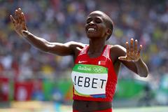 Ruth Jebet wins the 3000m steeplechase at the Rio 2016 Olympic Games (Getty Images)