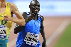 Refugee Athlete Team member Paulo Amotun Lokoro at the IAAF World Athletics Championships Doha 2019 (Getty Images)