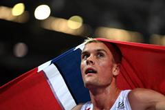 Filip Ingebrigtsen celebrates at the IAAF World Championships in London (Getty Images)