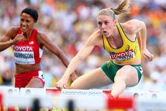 Sally Pearson in the womens 100m Hurdles at the IAAF World Athletics Championships Moscow 2013 (Getty Images)