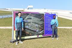 Athlete refugees Otmane Nait-Hammou and Jamal Abdelmaji Eisa Mohammed in Aarhus (Jiro Mochizuki)