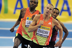 Marcin Lewandowski in action at the Birmingham Indoor Grand Prix (Getty Images)