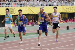 Michael Norman wins the 200m at the IAAF World Challenge meeting in Osaka (Getty Images)