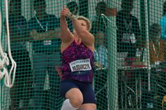 Anita Wlodarczyk spins to a meeting record in Ostrava (Bob Ramsak)