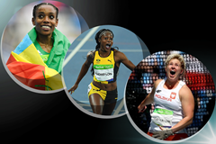 The IAAF World Athlete of the Year 2016 women's finalists: Almaz Ayana, Elaine Thompson and Anita Wlodarczyk (Getty Images)