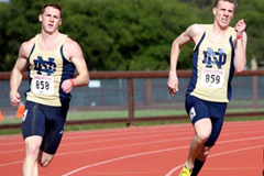 Feeney and Giesting competing for Notre Dame ()