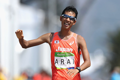 Hirooki Arai competes in the 50km race walk in Rio (Getty Images)