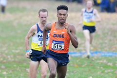 Justyn Knight on his way to winning the NCAA cross-country title (Kirby Lee)