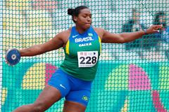 Andressa de Morais in the discus at the South American Championships in Lima (Oscar Muñoz Badilla)