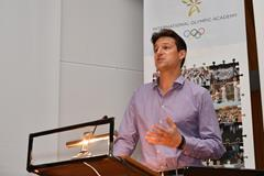 IAAF CEO Olivier Gers at the International Olympic Academy Symposium on Governance in Sport (IAAF)