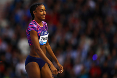 Nafissatou Thiam in the high jump at the IAAF Diamond League meeting in Brussels (Getty Images)