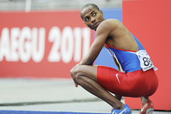 Panamanian long jumper Irving Saladino at the IAAF World Championships (AFP / Getty Images)